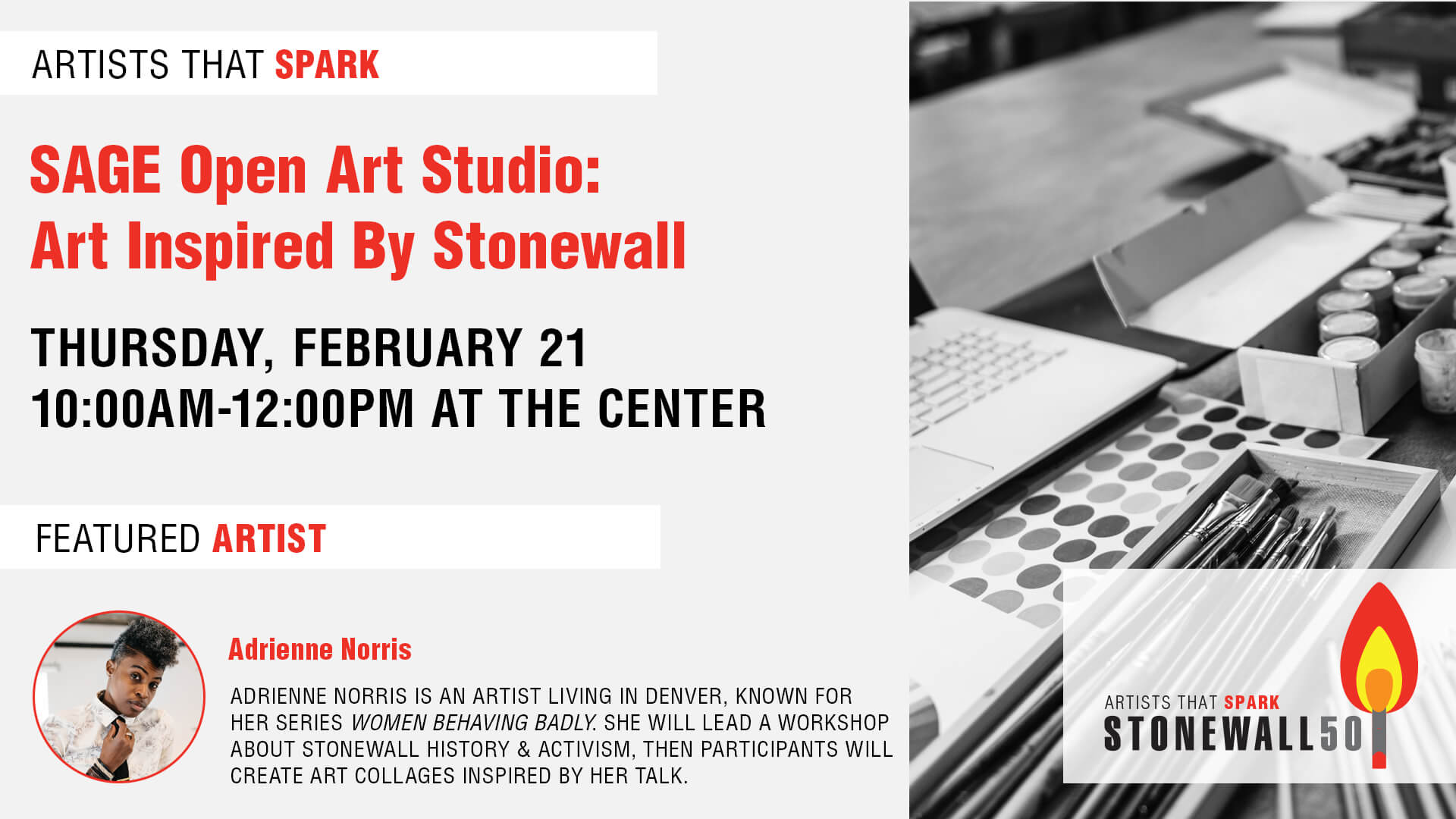 Artists That Spark: SAGE Open Art Studio Art Inspired by Stonewall