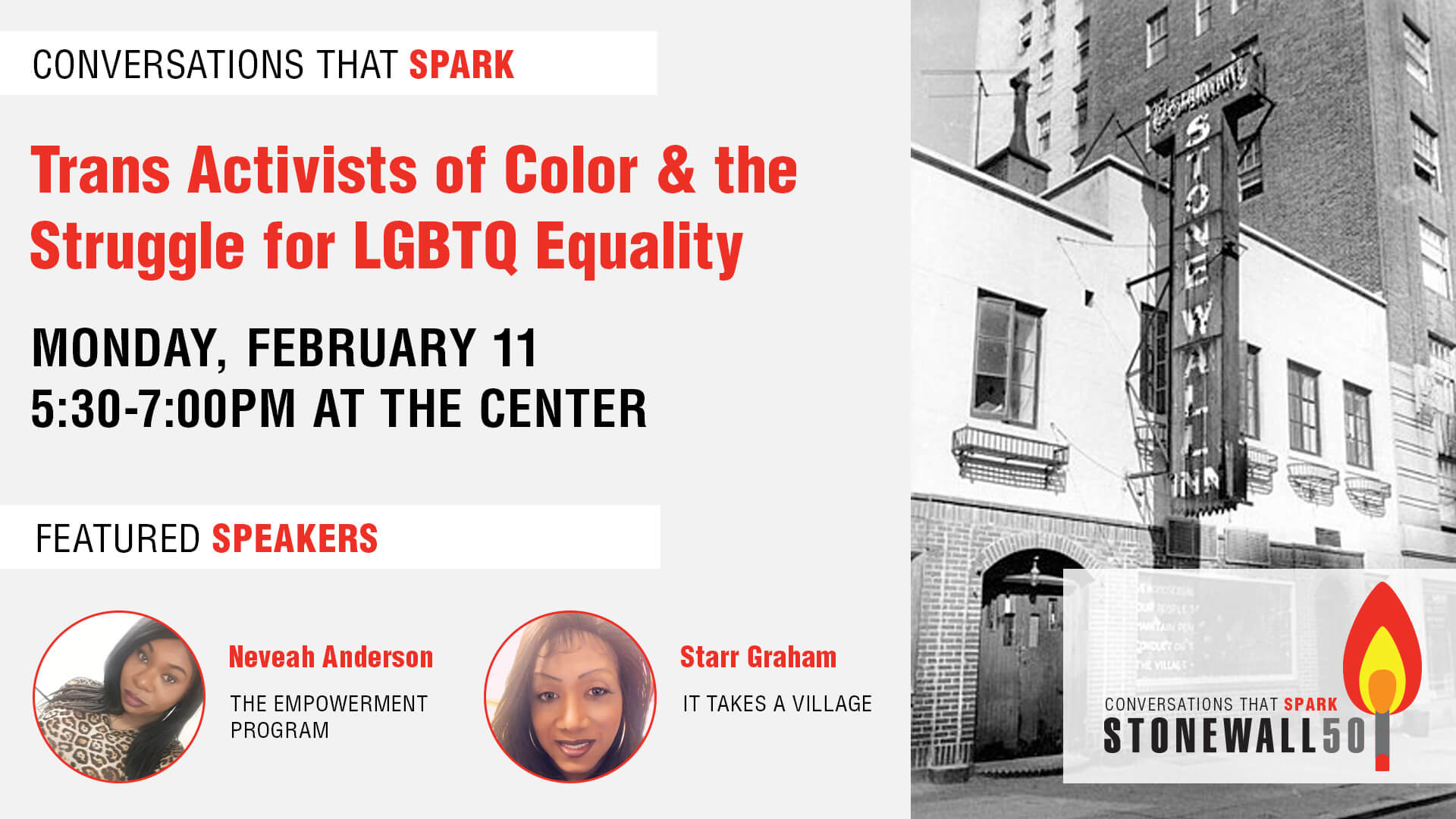 Conversations That Spark: Trans Activists of Color & the Struggle for LGBTQ Equality