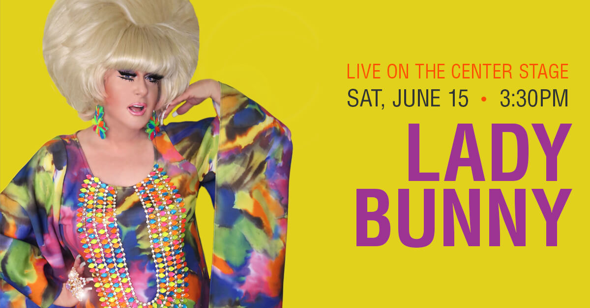 Lady Bunny on Center Stage at Denver Pride