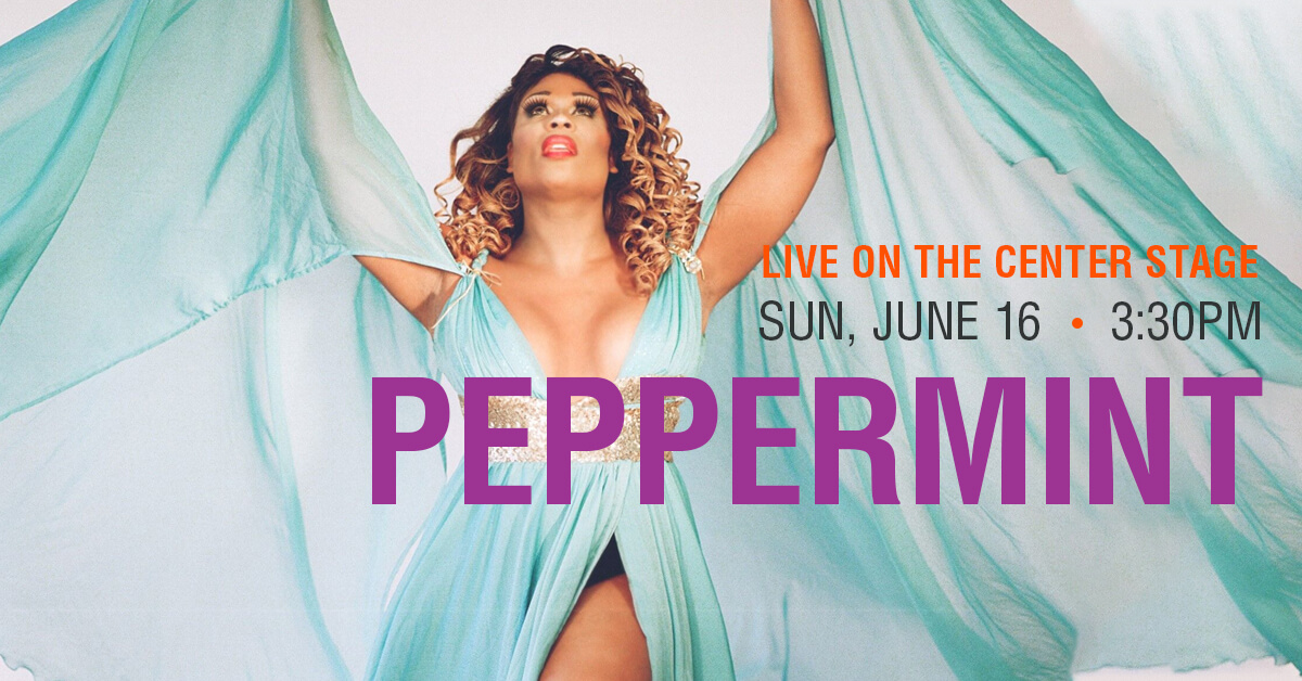 Peppermint on Center Stage at Denver Pride